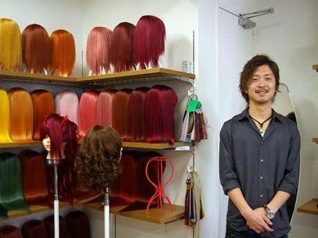 実店舗でのウィッグ販売も行う「シペラス」東京店。写真=東本祐至店長