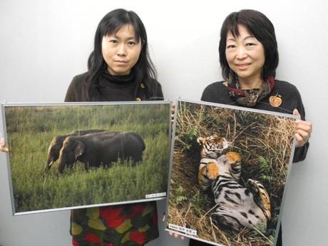理事長の戸川さんと広報担当の上長希美さん