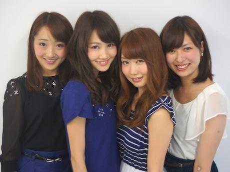 「ミス共立女子大2013桜姫」の候補者4人。左から青野由依さん、手塚梨加さん、飯田ゆかりさん、齋藤絵莉子さん