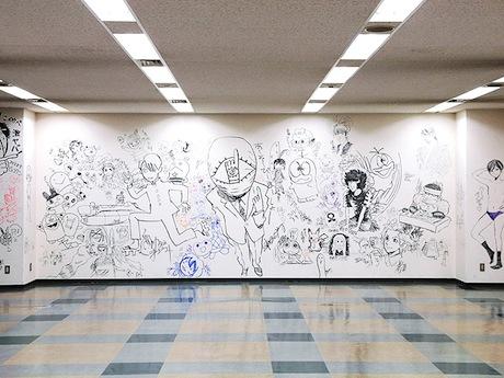 サイト「ありがとう! 小学館ビル ラクガキ大会」で公開されている「落書き」。写真提供=小学館