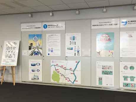 共立女子大生が考えた「神保町周辺活性化デザイン計画」展示