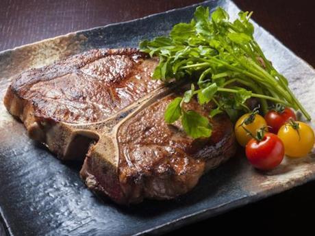 1位「いろにしき」の「アンガス牛 Tボーンステーキ」
