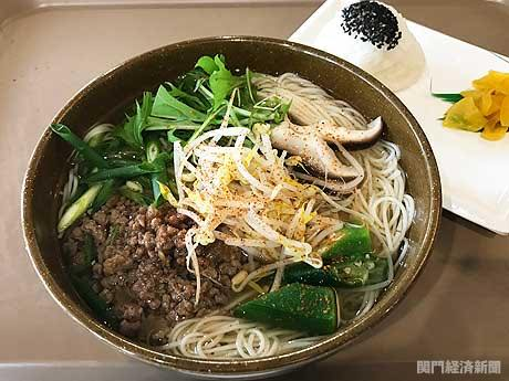 下関市役所食堂で「鹿肉イノシシ肉」ジビエそうめん 市内高校生が考案