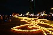 関門海峡両岸で「キャンドルナイト」開催へ キャンドル3万個ともす