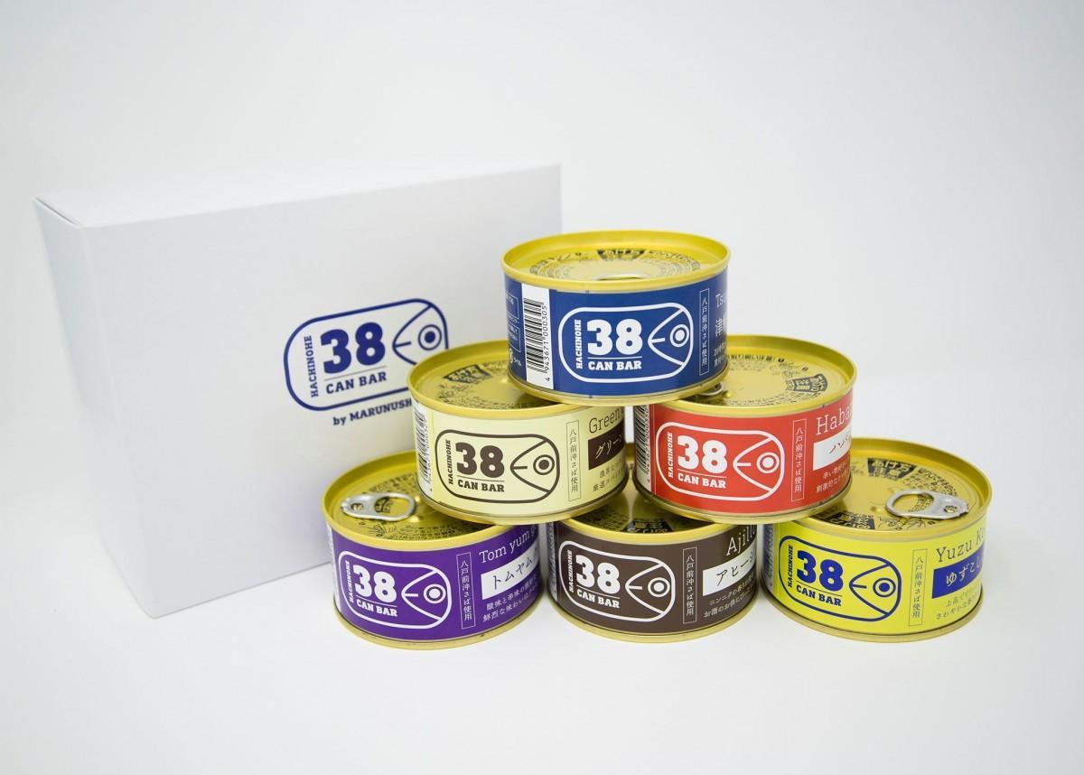 「八戸前沖さば」と世界の味覚のコラボ缶 八戸駅前の施設でイベント販売