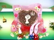 京都タワー「たわわちゃん」がノッポン君にバレンタインチョコ