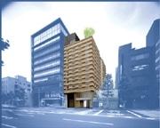 外壁に木材を使った新オフィスビル-京都の街並みと調和目指す