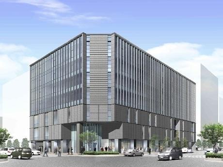 2010年秋、四条烏丸に開業予定の「(仮称)四条烏丸ビル」。画像=外観イメージパース。