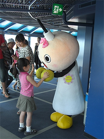 写真=京都タワー展望室に登場するたわわちゃん