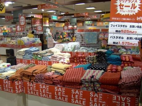 京都ロフトは8月6日に「ミーナ京都」に移転する。写真は31日まで実施されているクリアランスセールの売場(7月23日撮影)