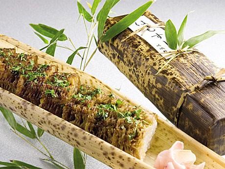 ホテル日航プリンセス京都の日本料理店「嵯峨野」が販売する、京都夏の風物詩「ハモずし」。