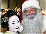 京都「前田珈琲」に舞妓とフィンランド政府公認サンタクロースが来店