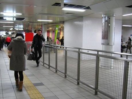 三条京阪駅構内の駅ナカ店舗予定地