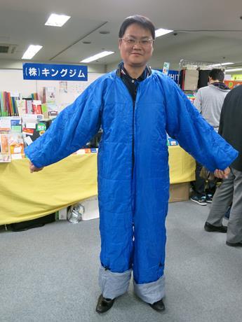 「着る布団」を着ていただきました