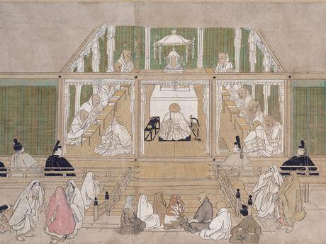 国宝 法然上人絵伝巻九 部分 京都・知恩院(画像は一部)