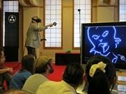 アメコミ「兎用心棒」作者が京都で時代劇語る VR空間でのライブペインティングも