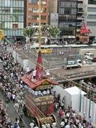 祇園祭・前祭の曳き初め 今年ならでは、鉾のツーショット風景も