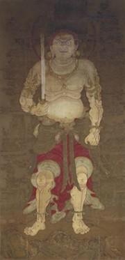 京都・曼殊院の「黄不動」の腹部に清めの下絵跡 修復中に見つかる