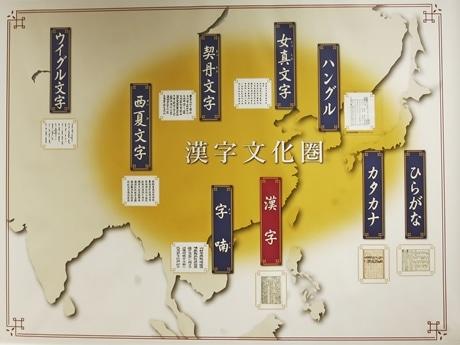 「漢字文化圏」エリアとその地域で使われる文字