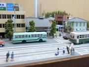 京都市学校歴史博物館でジオラマ展示 昭和の街並みイメージ、ミニチュア市電も