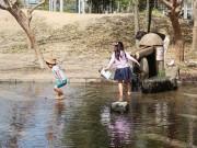 京都で3日連続の夏日を観測 梅小路公園では水遊びで涼得る