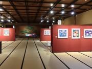 京都・祇園で草間彌生さん「花の間」展 「都をどり」特別展として