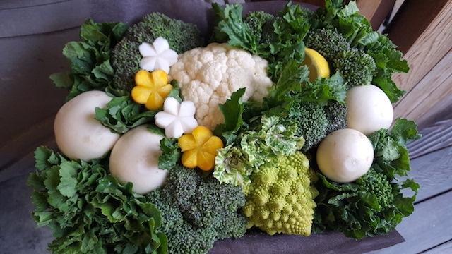 京野菜のアレンジメント「ecovegarrangement(エコベジアレンジメント)」