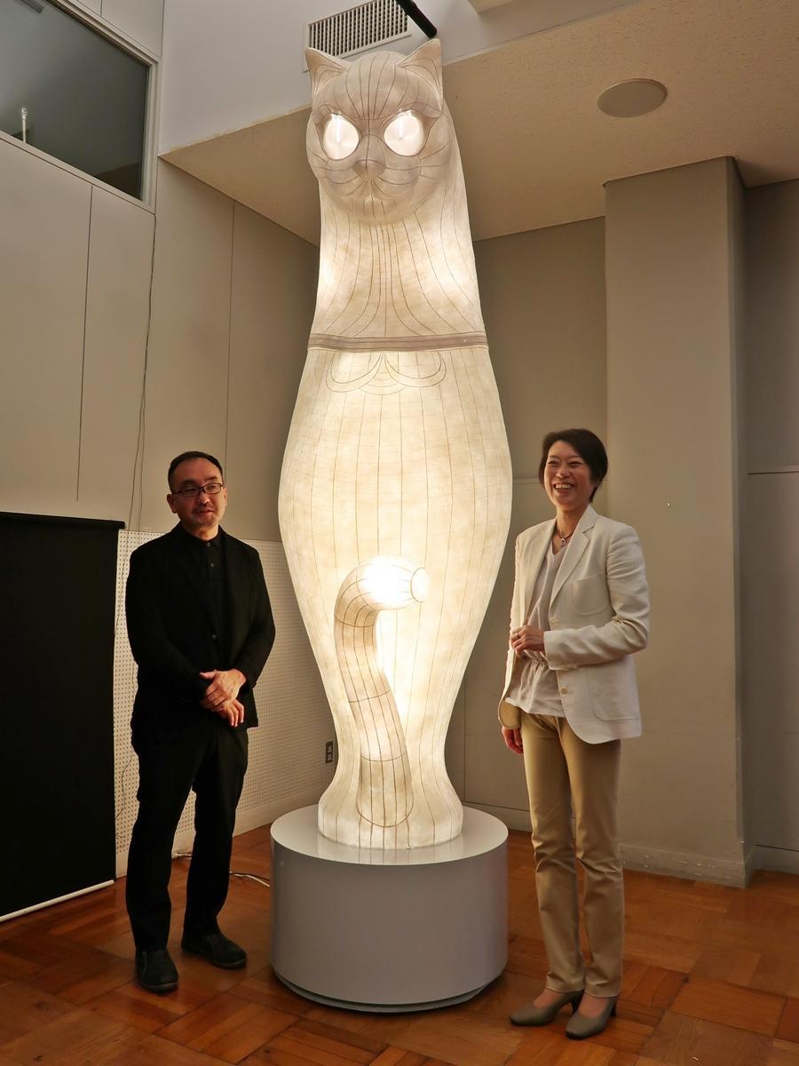 「SHIP'S CAT(Totem)」とヤノベさん、堀木さん