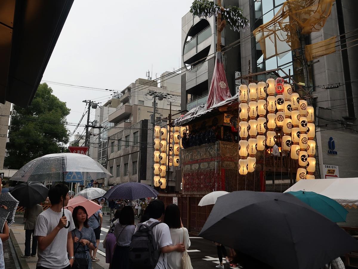 室町通の「鶏鉾」