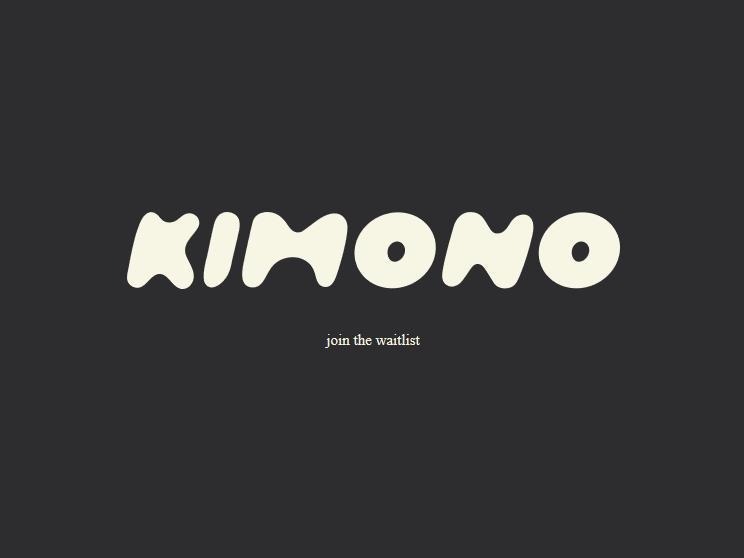 キム・カーダシアン・ウェストさんが当初商標登録を目指した「KIMONO」のロゴ