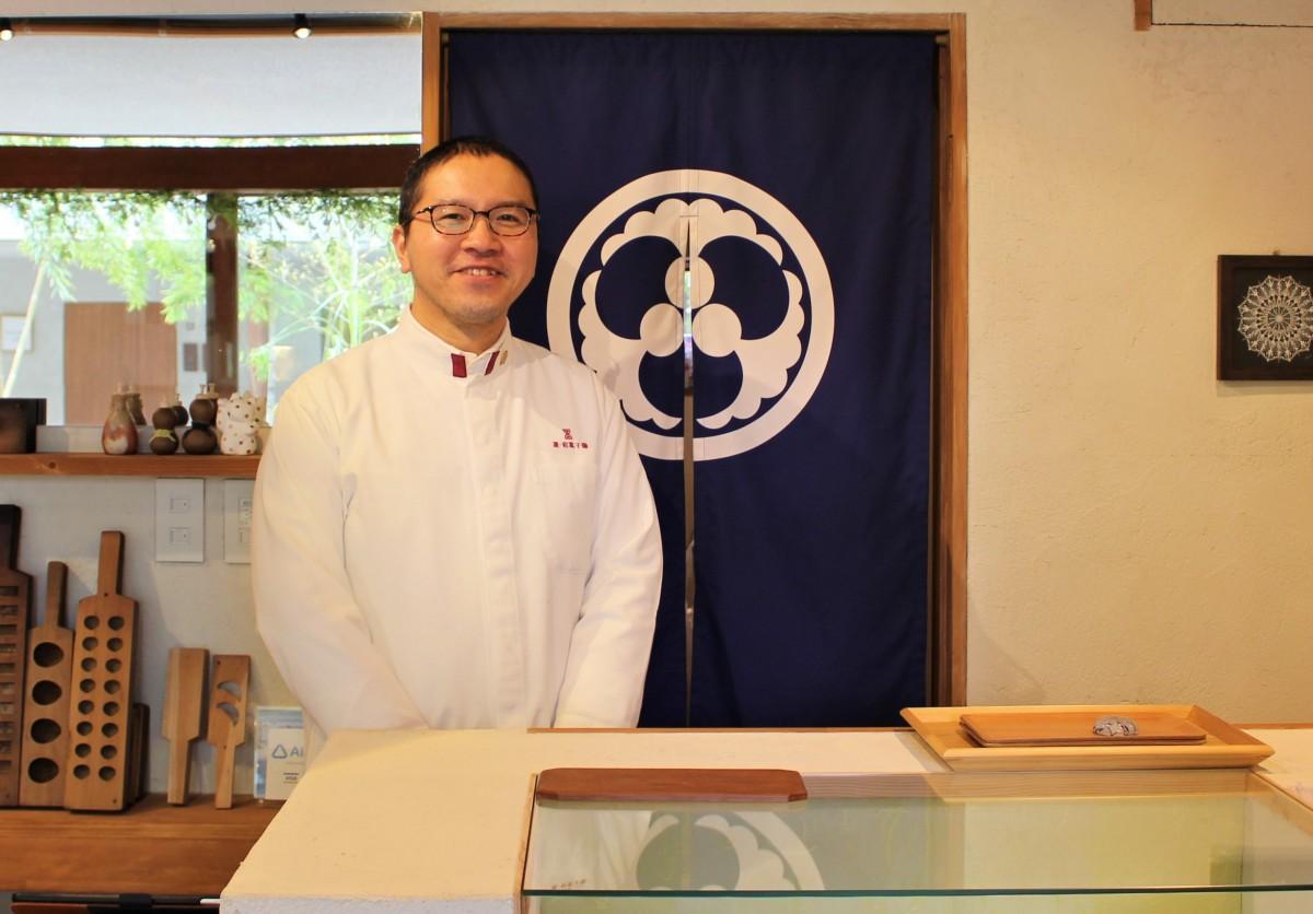 優秀和菓子職に認定された、店主の頼富博貴さん