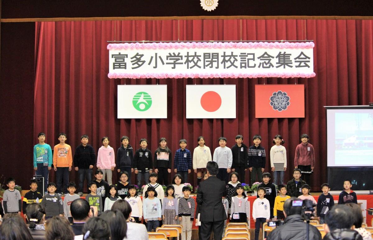 全生徒での合唱