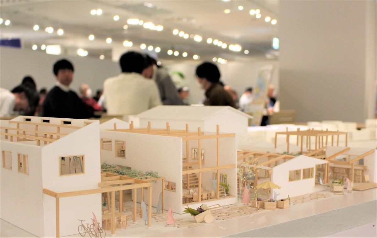 日本工業大学生の卒業設計「春日部こども長屋」の模型