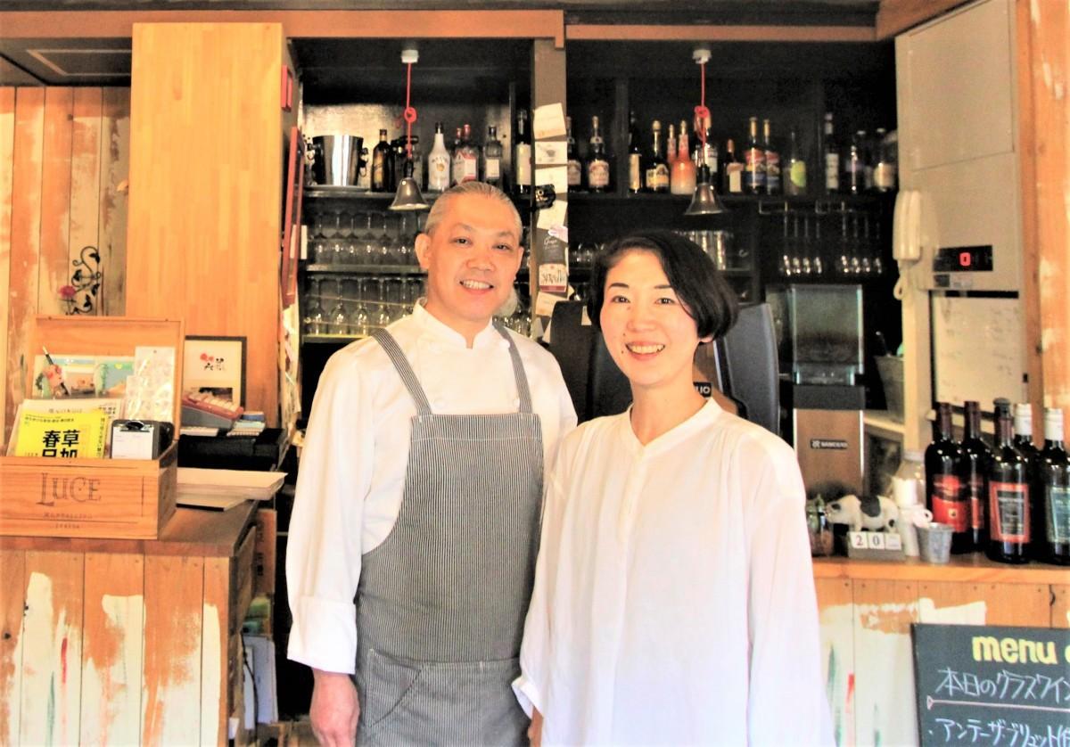 オーナーシェフの立花広之さんと智子さん
