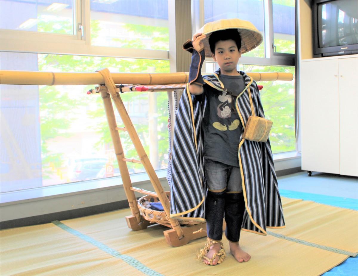 江戸時代の旅人姿の参加者