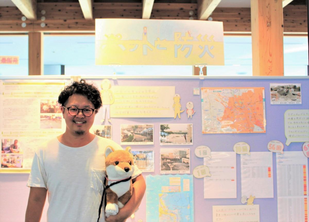山本夏聖さん手作りのパネル展示