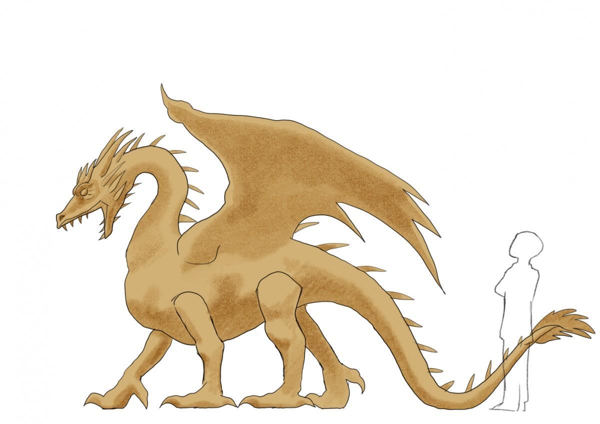 ドラゴンのわらアート(イメージ)