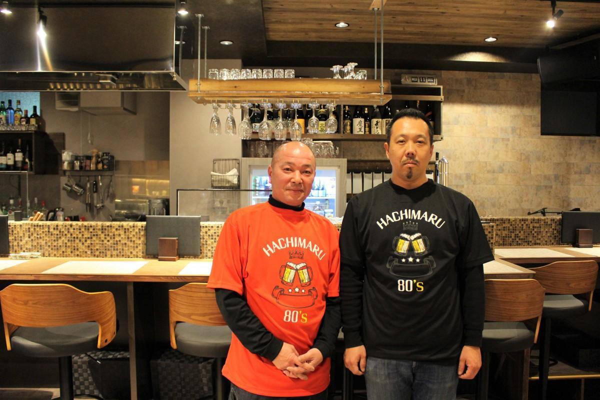 (左から)オーナー齋藤博道さん、店長の茂木崇さん