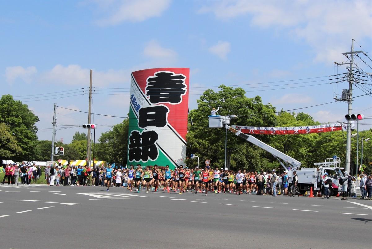 昨年の大凧マラソンの様子