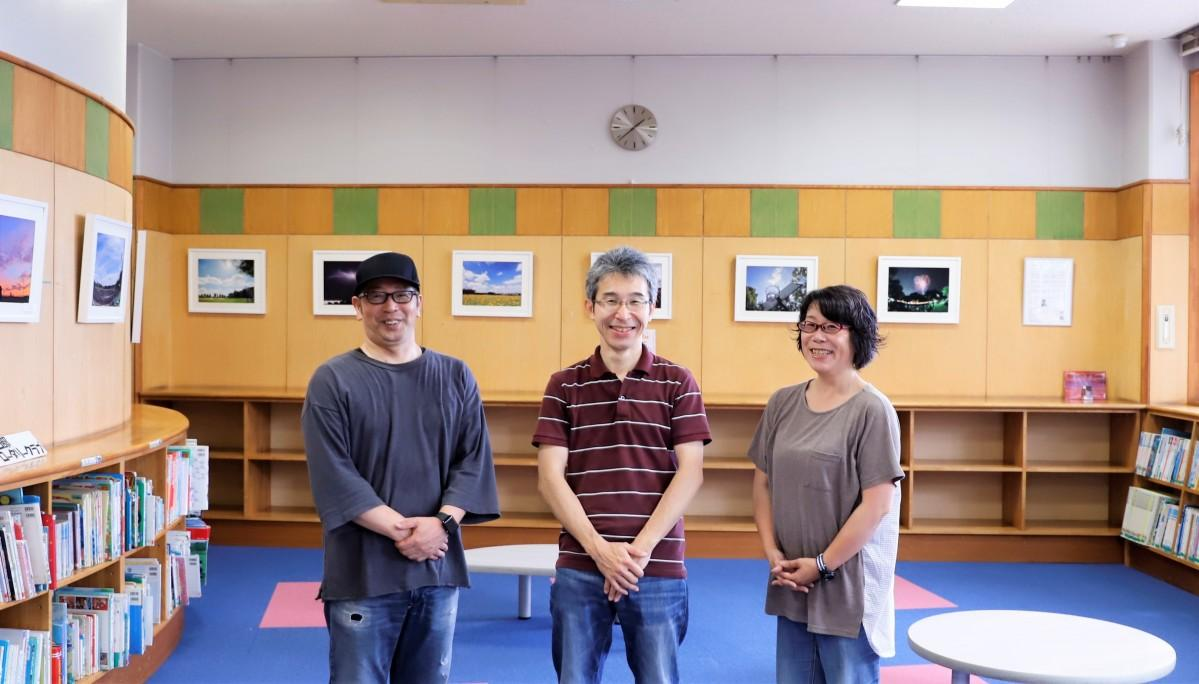 (左から)写真家の光吉正憲さん、今井洋樹さん・英子さん