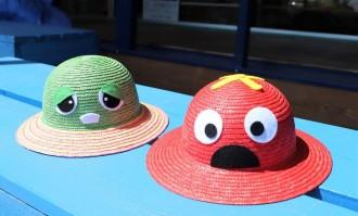 ガチャピン・ムックと春日部の「田中帽子店」がコラボ麦わら帽子 数量限定で