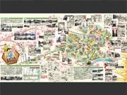 全長4メートルの案内板「両さんと歩く亀有マップ」-亀有香取神社に設置へ