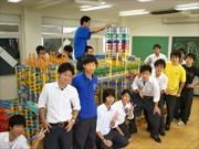葛飾の高校文化祭に巨大プラレール-ものづくりの楽しさ伝える