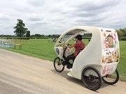 柴又の自転車タクシー、ポケモンGOの安全なプレー方法提案