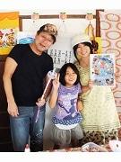柴又の喫茶店で「デコぬりえ教室」 外道漫画家、平松伸二さんのかわいい下絵で