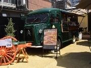 川越にホットサンド専門店 緑色のキッチンカーが目印