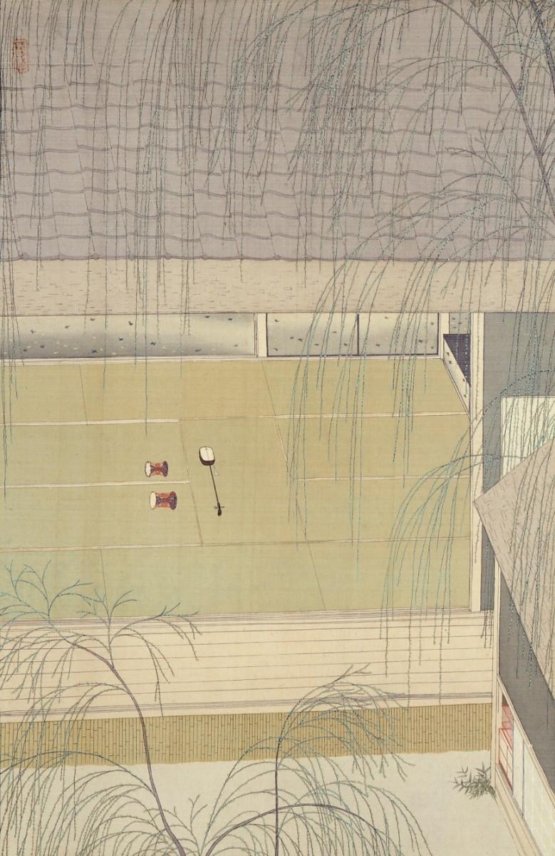 小村雪岱《青柳》大正13年(1924)頃 埼玉県立近代美術館蔵