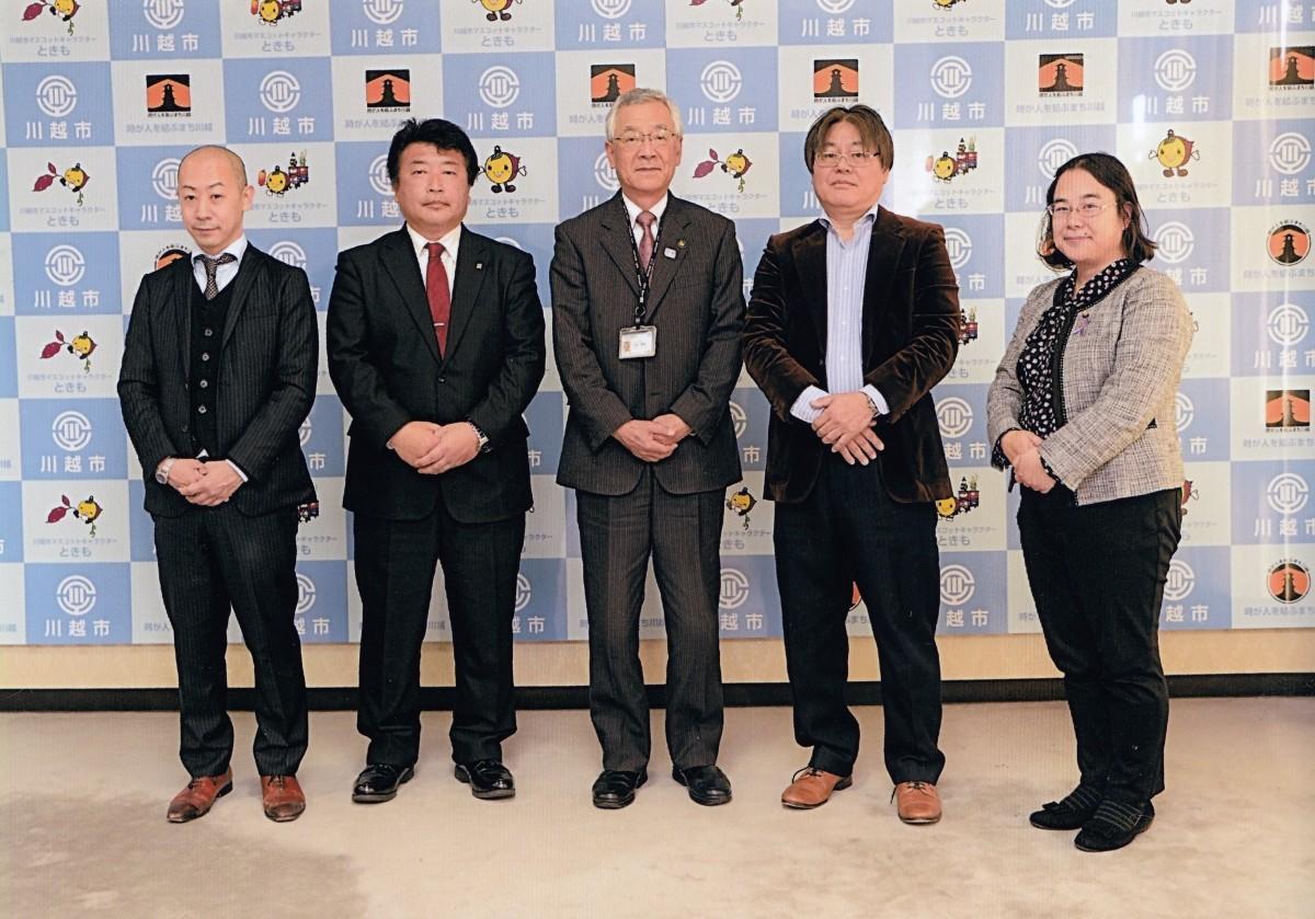最明寺の千田さん、市長らと面会