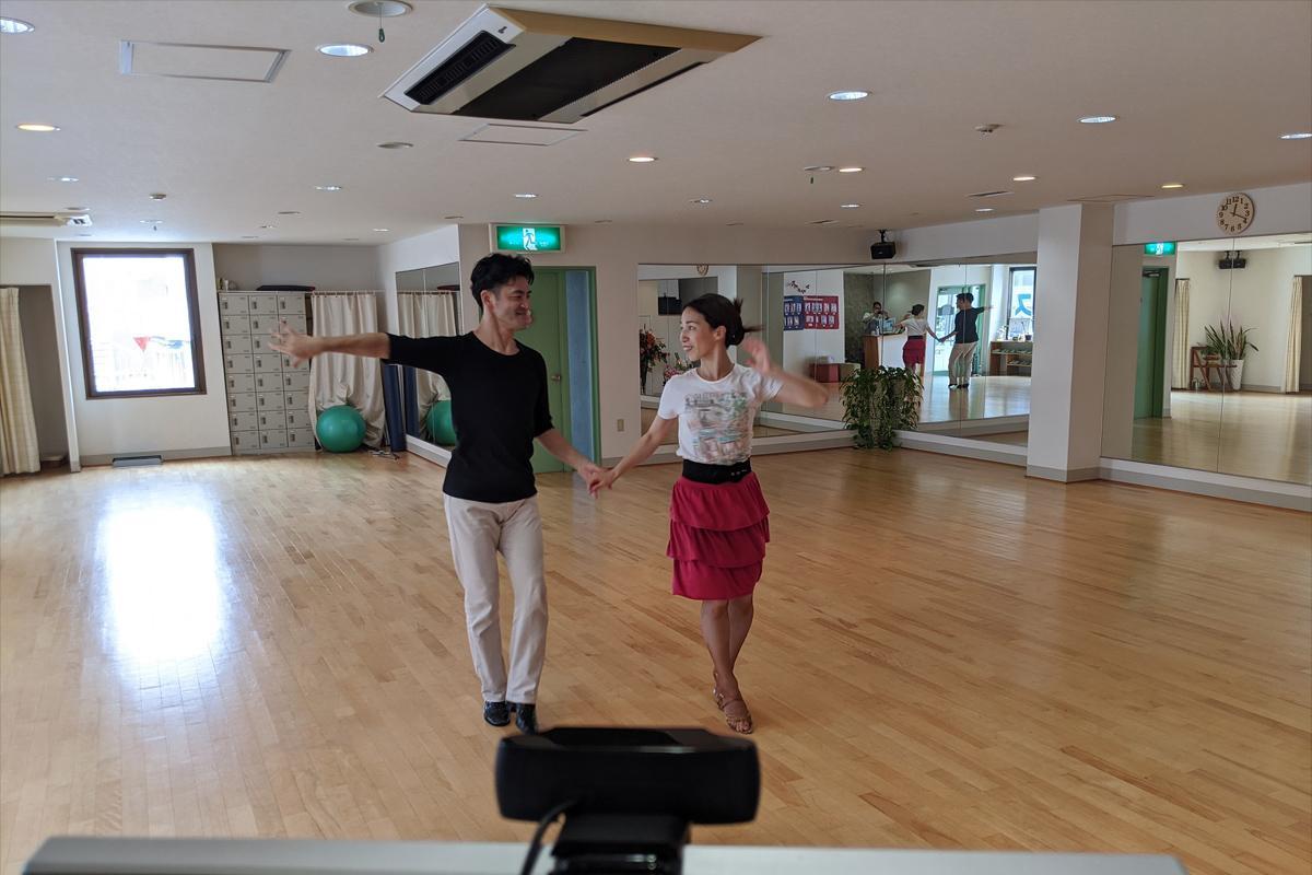 岸田ダンスアカデミー「夫婦で踊ろう」講座の様子