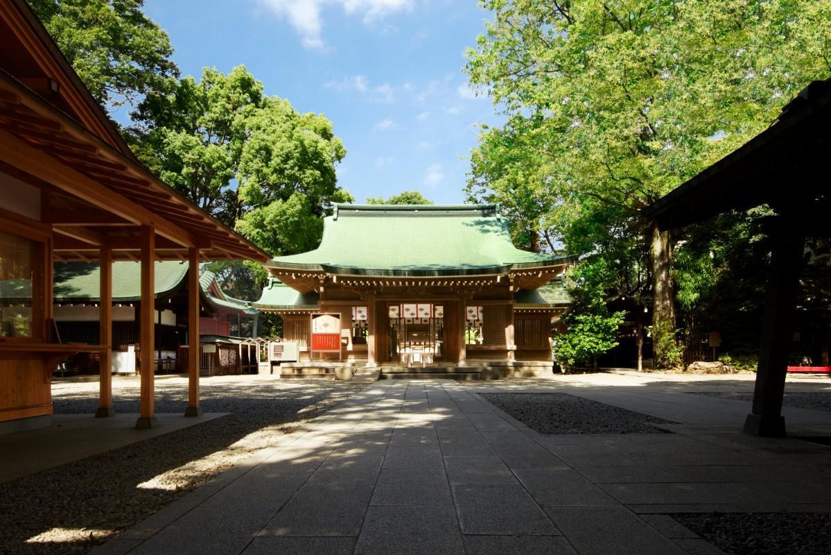 川越氷川神社の拝殿正面